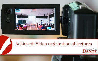 Achieved: Video registration of lectures