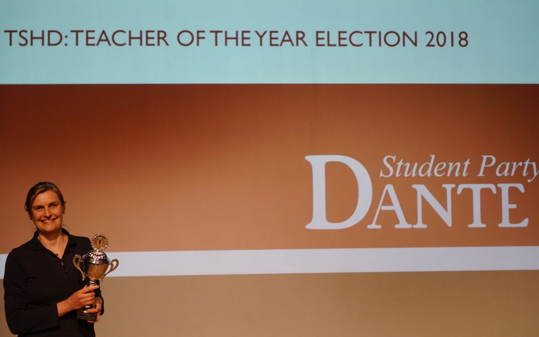 Juliëtte Schaafsma winner of TSHD Teacher of the Year Election 2018!